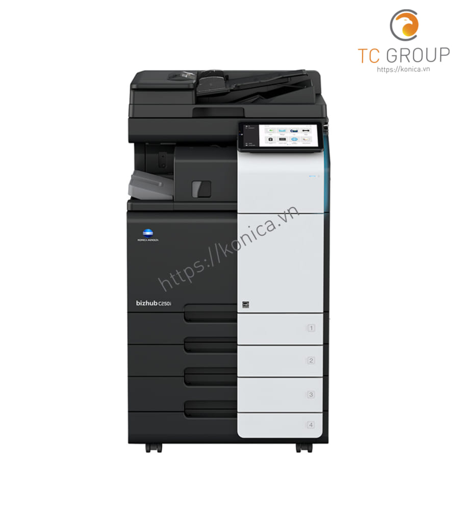 Máy photocopy Minolta Konica BIZHUB C250i hiện đại với nhiều tính năng