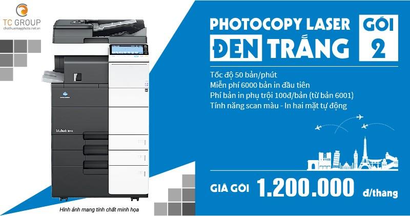 Cho thuê máy photocopy đen trắng gói 2