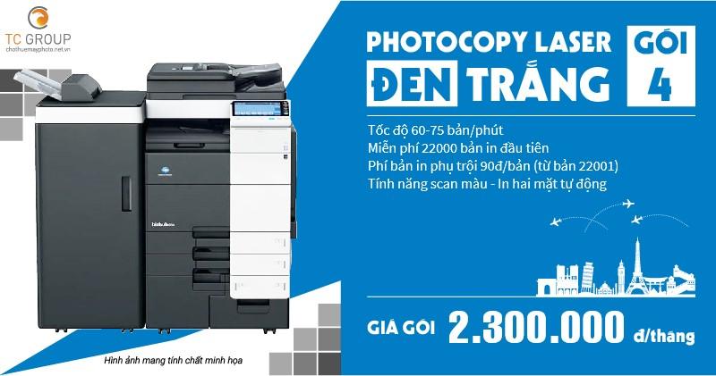 Cho thuê máy photocopy đen trắng gói 4