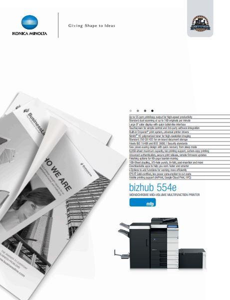 Catalog Konica Minolta bizhub 554e