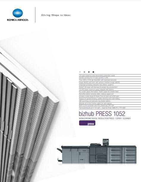 Catalog Konica Minolta bizhub press 1052