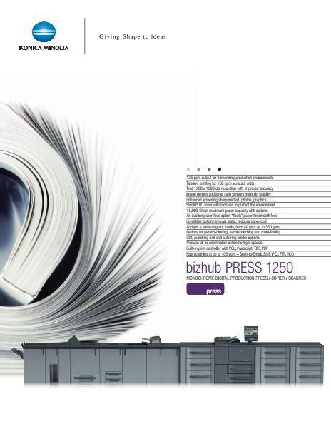 Catalog Konica Minolta bizhub press 1250