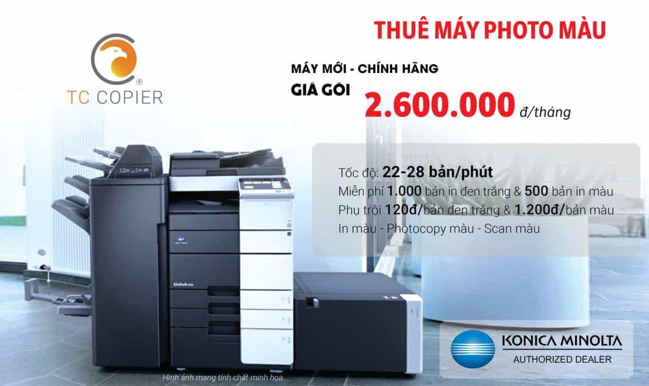 Cho thuê máy photocopy Konica Màu