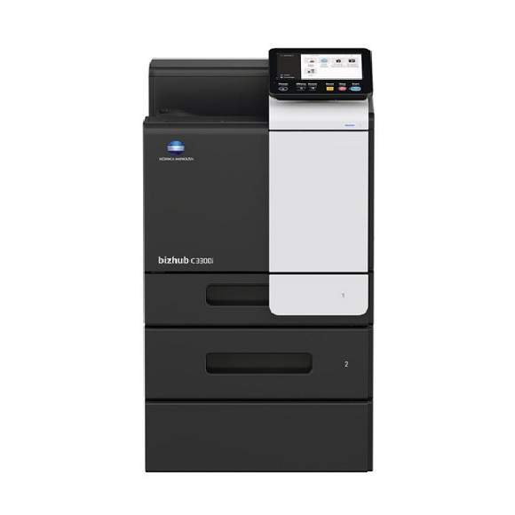 Máy in Konica Minolta Bizhub C3300i front options